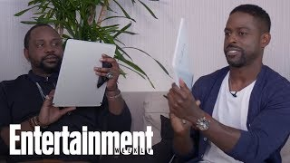 How Well Do BFFs Sterling K. Brown And Brian Tyree Henry Know Each Other? | Entertainment Weekly