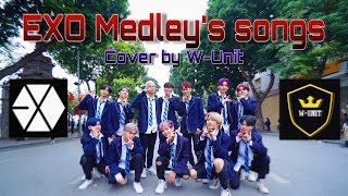 [KPOP IN PUBLIC] Medley EXO's Songs Dance Cover by W-Unit from Viet Nam