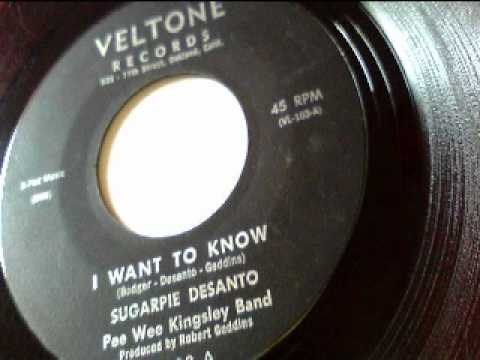 "Click here to listen to ""I Want To Know"" by Sugar Pie DeSanto on Veltone Records."