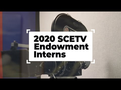 screenshot of youtube video titled 2020 SCETV Endowment Intern Video