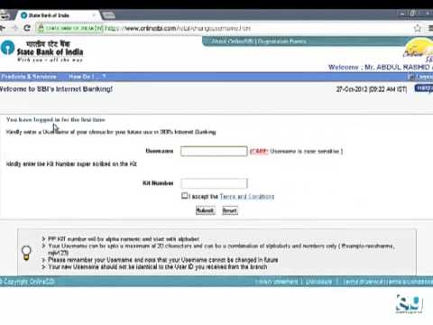 Create SBI Internet Banking Account Online for First Time