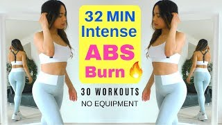 My Ultimate Abs Exercise Compilation!  At Home Workout No Equipment - 30 Workouts, 32 MIN