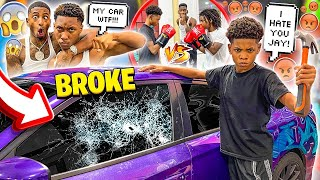 JAY DISRESPECTED THE NEW KID & HE BROKE THE WINDOW ON HIS HELLCAT!😱(JAKARI WANT TO BOX HIM)🥊