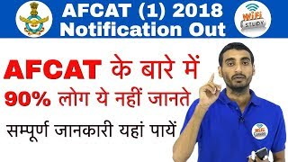AFCAT (I) 2018 Notification Out! Age Limit, Exam Pattern, Selection Process, Exam Dates