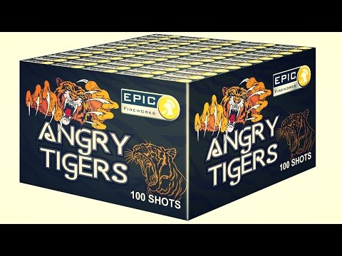 Epic Fireworks Angry Tigers - 100 shot firework