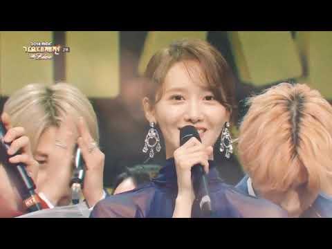 BTS V & SNSD YOONA MBC GAYO DAEJUN MOMENTS