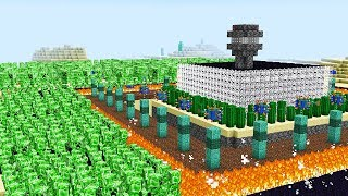 1,000 CREEPERS VS. THE SAFEST MINECRAFT HOUSE!