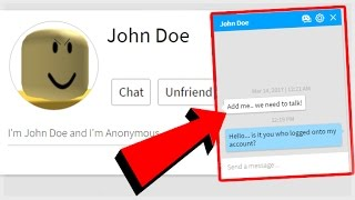 john doe sent me a message on roblox scary music videos