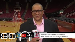 Marc J. Spears describes Warriors 'conference title parade' in arena after game | SC with SVP | ESPN