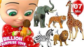 Toy Animals Song | BillionSurpriseToys Nursery Rhyme & Songs