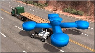 BeamNG Drive Giant Fidget Spinner Destroying Vehicles #1