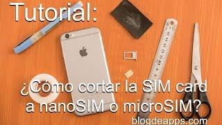 ¿Cómo Convertir SIM a nanoSIM o microSIM con Plantilla Descargable?