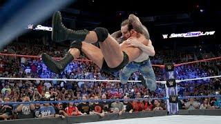 Randy Orton RKO on Aiden English - WWE Smackdown Live - July 4, 2017
