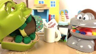 Shrek et le Singe Cupcakes et Café en Bois Jeu d'Imitation Melissa Doug