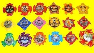 Power Rangers Ninja Force Ninninger Ninja King, Bison King, Volcano King Swords Toys