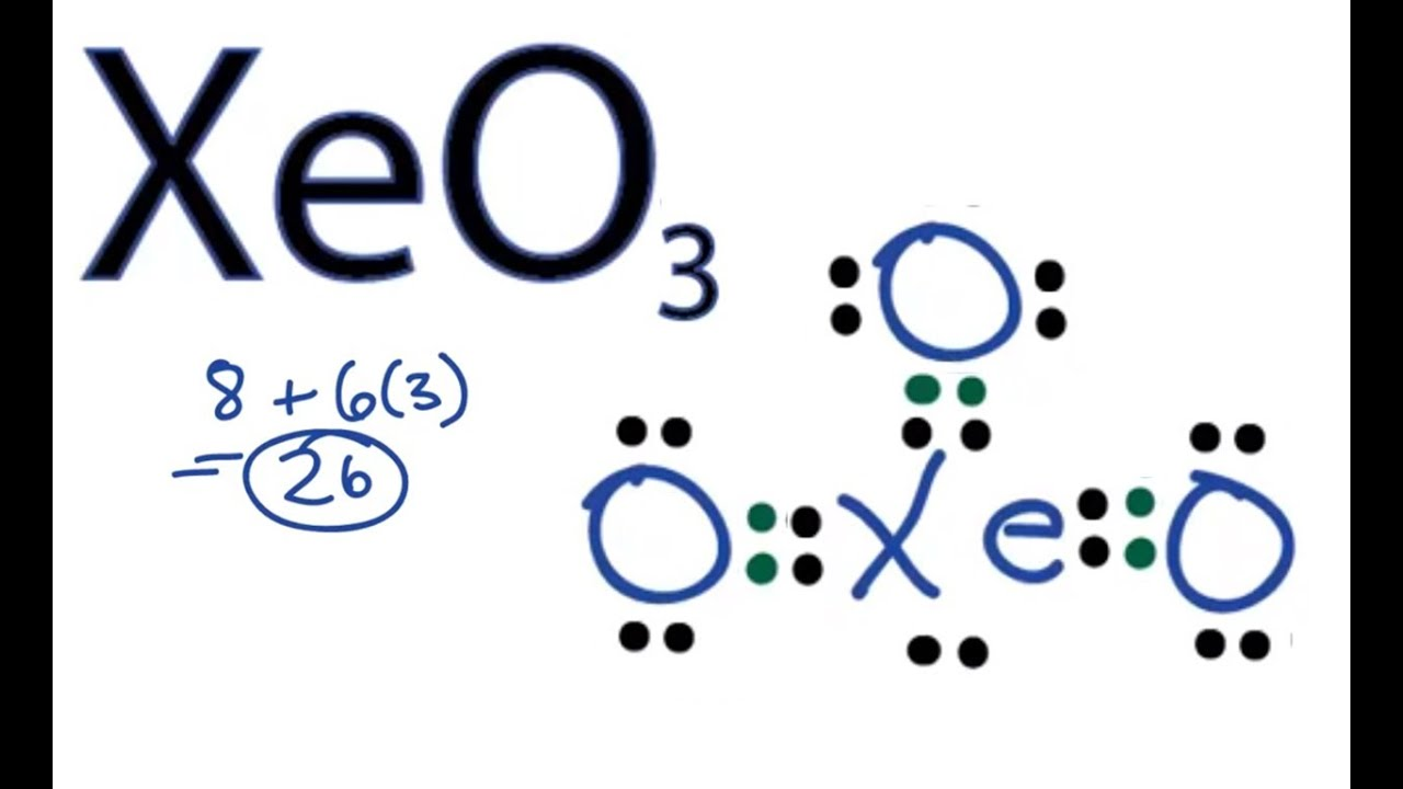 Xeo3 Lewis Structure XeO3 Lewis Structure -...