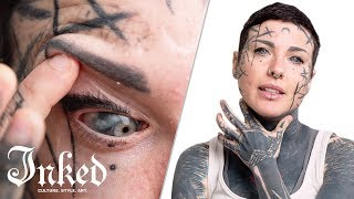 Michela's Tattooed Eyeballs & Tattoo Tour | INKED