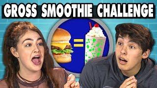 GROSS SMOOTHIE CHALLENGE! | Teens Vs. Food