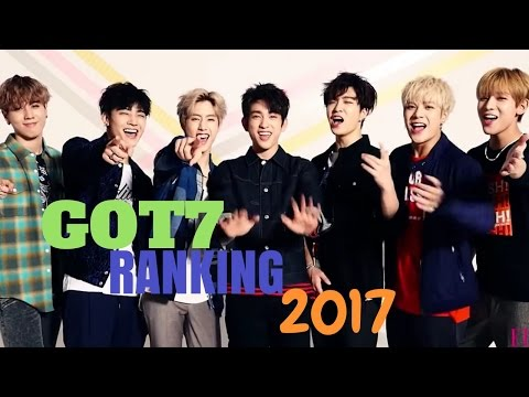 GOT7 RANKING 2017 (vocal, rap, dance, humor, visual)