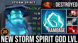 NEW Storm God!!! EPIC Zip Zap Rampage Vs Pro Mars Mid This is Beyond Cancer Battle 20Kills DotA 2