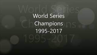World Series Winners 1995-2017