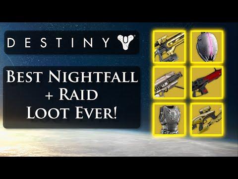 Destiny best loot ever nightfall x3 raid chest loot