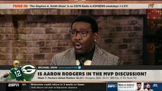 ESPN FIRST TAKE - Michael Irvin heated debate: Is Aaron Rodgers in the MVP discussion?