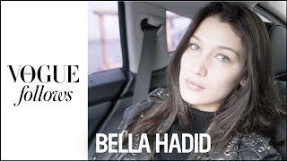 Bella Hadid : 24h of Fashion Week with Bella Hadid at Miu Miu | #VogueFollows | VOGUEPARIS
