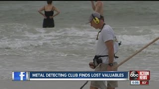 Metal detecting club from lost valuables