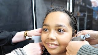 Tiana Gets Her Ears Pierced! Claire's Earrings Haul | Toys AndMe