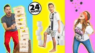 Going CRAZY AT HOME For 24 Hours.. **SO BORED** | The Royalty Family