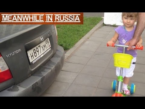 Little Russian Girl Is A Car Expert