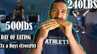 I'M SO VERTICAL! A FULL DAY OF EATING CrossFit (3x Training Sessions)