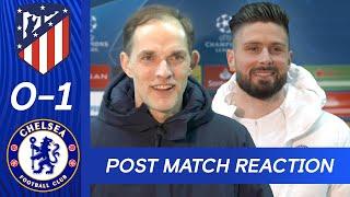 Thomas Tuchel & Olivier Giroud React To Big Win + Stunning Bicycle Kick   Atletico Madrid v Chelsea