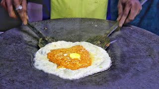 Road Side Party Special Omelette Dish | Egg Street Food | Indian Street Food | Amazing Cooking Skill