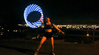 "Pixie Flow Arts ODESZA ""Always This Late"" LED Hula Hoop flow performance"