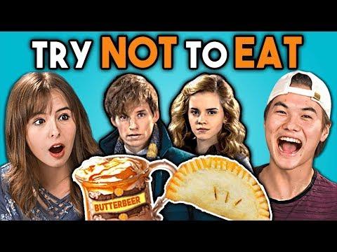 Try Not To Eat Challenge - Harry Potter Food   Teens & College Kids Vs. Food