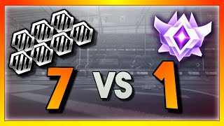 7 Silver Players vs 1 Grand Champion (Rocket League Showmatch)
