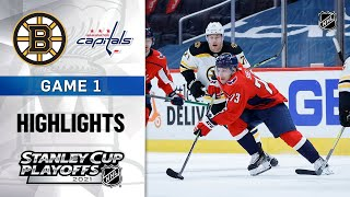 First Round, Gm1:  Bruins @ Capitals 5/15/21   NHL Highlights
