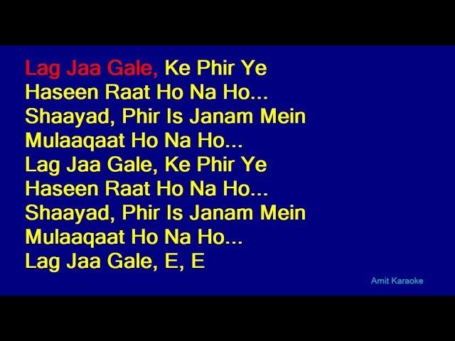 Dhunn Com Download Lag Ja Gale Karaoke Version Mp3