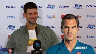 "Novak Djokovic ""Roger Federer motivates me!"" - London 2019 (HD)"