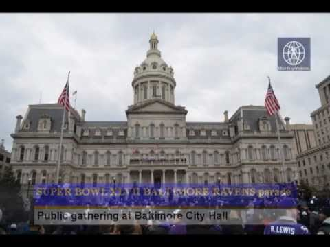 Pictures of SUPER BOWL XLVII - RAVENS victory parade - Public gathering at City Hall, Baltimore, MD, US