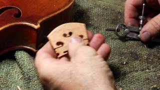 How to fit a violin bridge