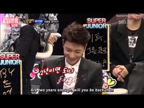 yesung sing for Leeteuk ^ ^