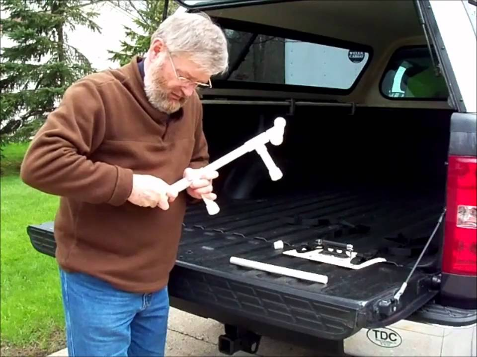 An Inexpensive Pickup Truck Bed Bike Rack Youtube