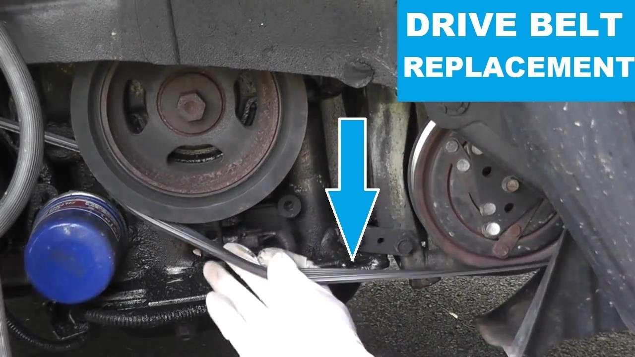 Nissan Maxima / Infiniti Drive Belt Replacement with Basic ...