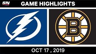 NHL Highlights | Lightning vs Bruins – Oct 17 2019