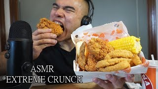 Asmr POPEYES FRIED CHICKEN * EXTREME EATING SOUNDS