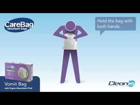 Cleanis Carebag Vomit Bag with Super Absorbent Pad