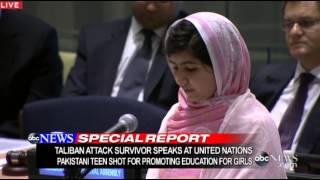 Malala Yousufzai vor der UNO